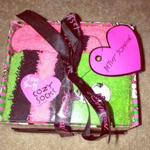 Betsey Johnson 3pk. Holiday Cozy Socks